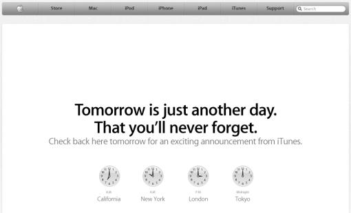 El anuncio de iTunes, la imagen.