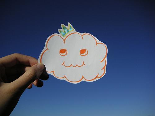 Parodia del cloud-computing. Imagen de nube.