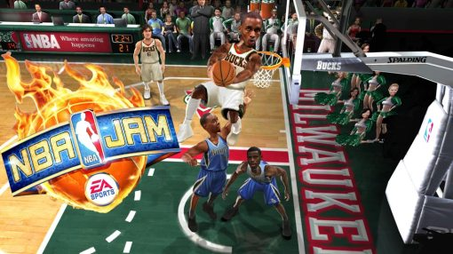 Screenshot de Gameplay de NBA Jam, una bomba.
