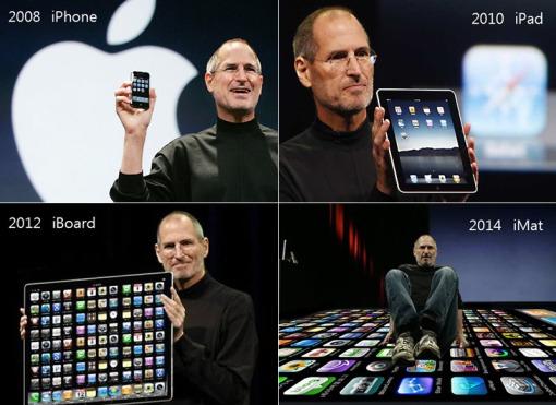 Una graciosa pariodia de la e-volución de los gadgets Apple