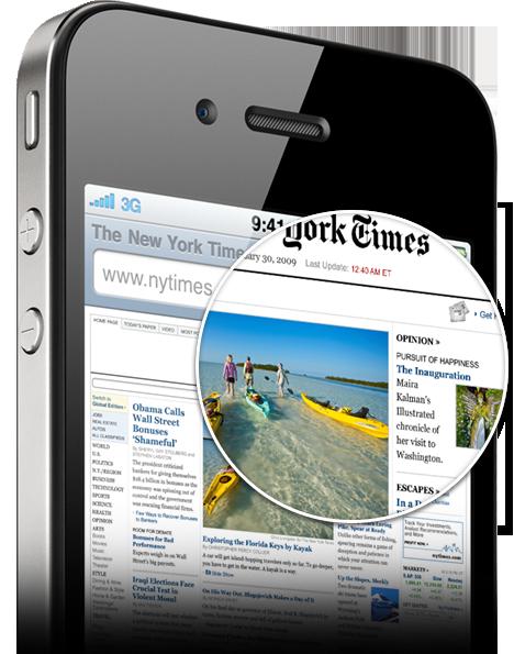 El Retina Display del iPhone 4. 960 x 640 píxeles de poder: Una guachada.